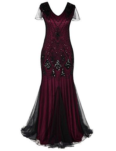 Prettyguide Women Evening Dress 1920s Flapper Cocktail